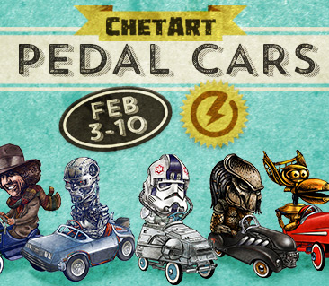 TeeFury: ChetArt's Pedal Cars Collection