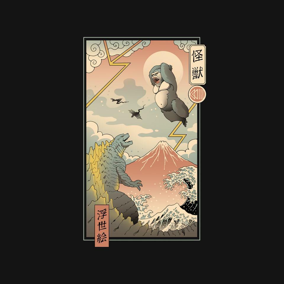 TeeFury: Kaiju Fight In Edo