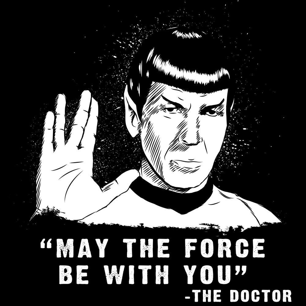 Blue Box Tees: Spock Force Who
