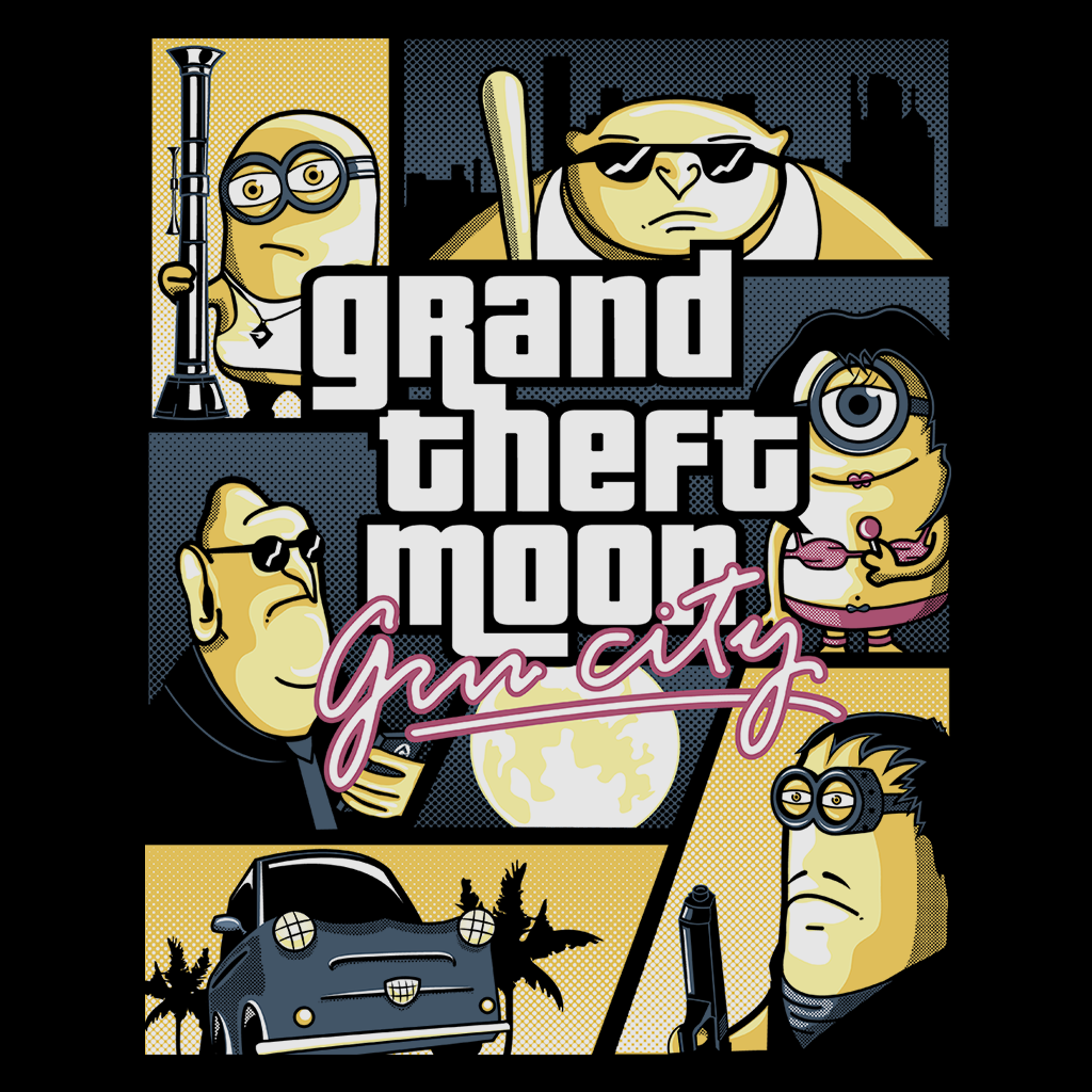 Pop-Up Tee: Grand Theft Moon