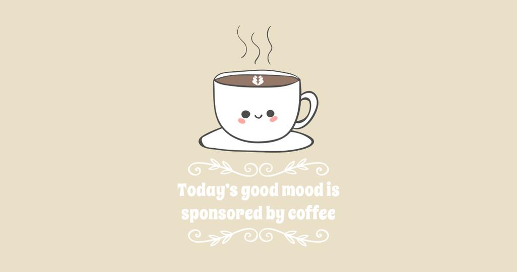 TeePublic: Today's good mood is sponsored by coffee