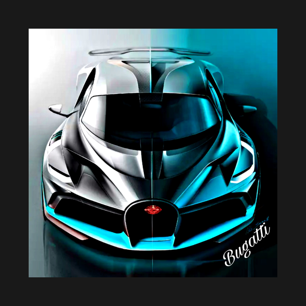 TeePublic: Bugatti in Blue Tone