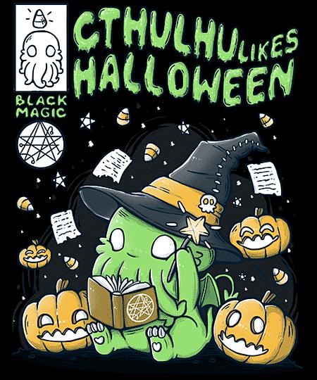 Qwertee: Cthulhu likes Halloween