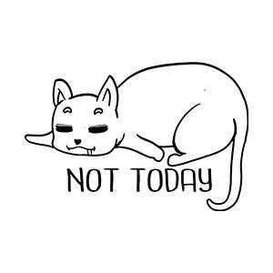 BustedTees: Not Today Cat