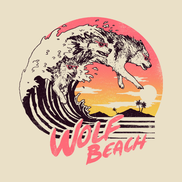TeePublic: Wolf Beach