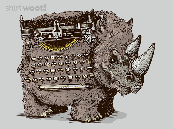 Woot!: Woolly Typewriter Rhino - $8.00 + $5 standard shipping