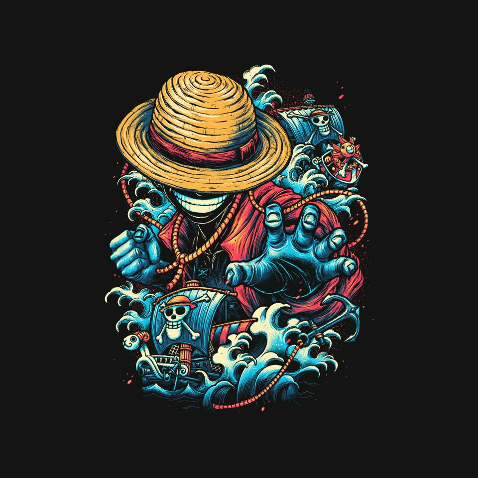 TeeFury: Colorful Pirate