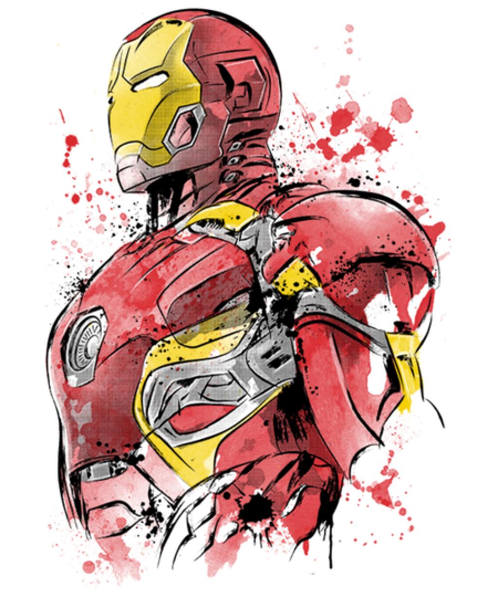 Qwertee: Iron Watercolor