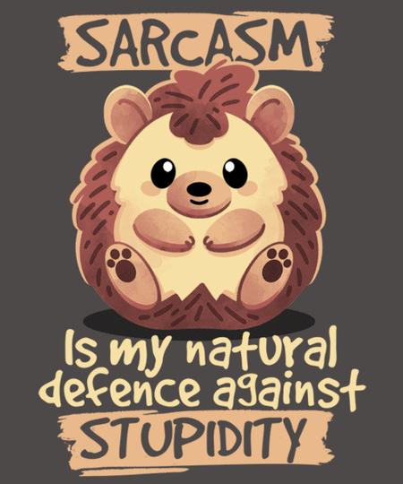 Qwertee: Sarcastic hedgehog