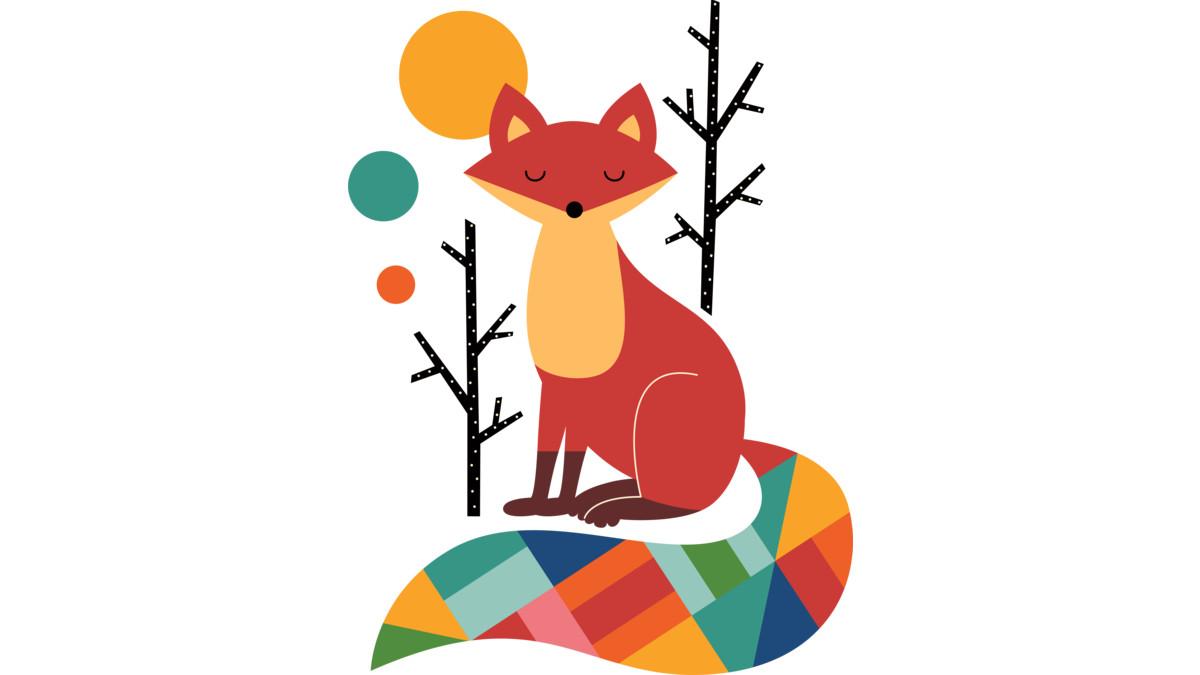 Design by Humans: Rainbow Fox