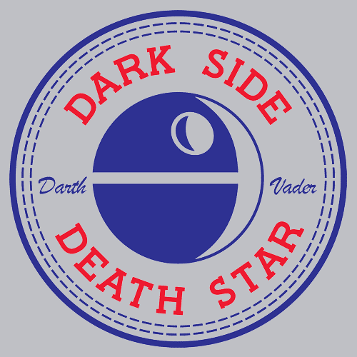 Textual Tees: Dark Side Death Star