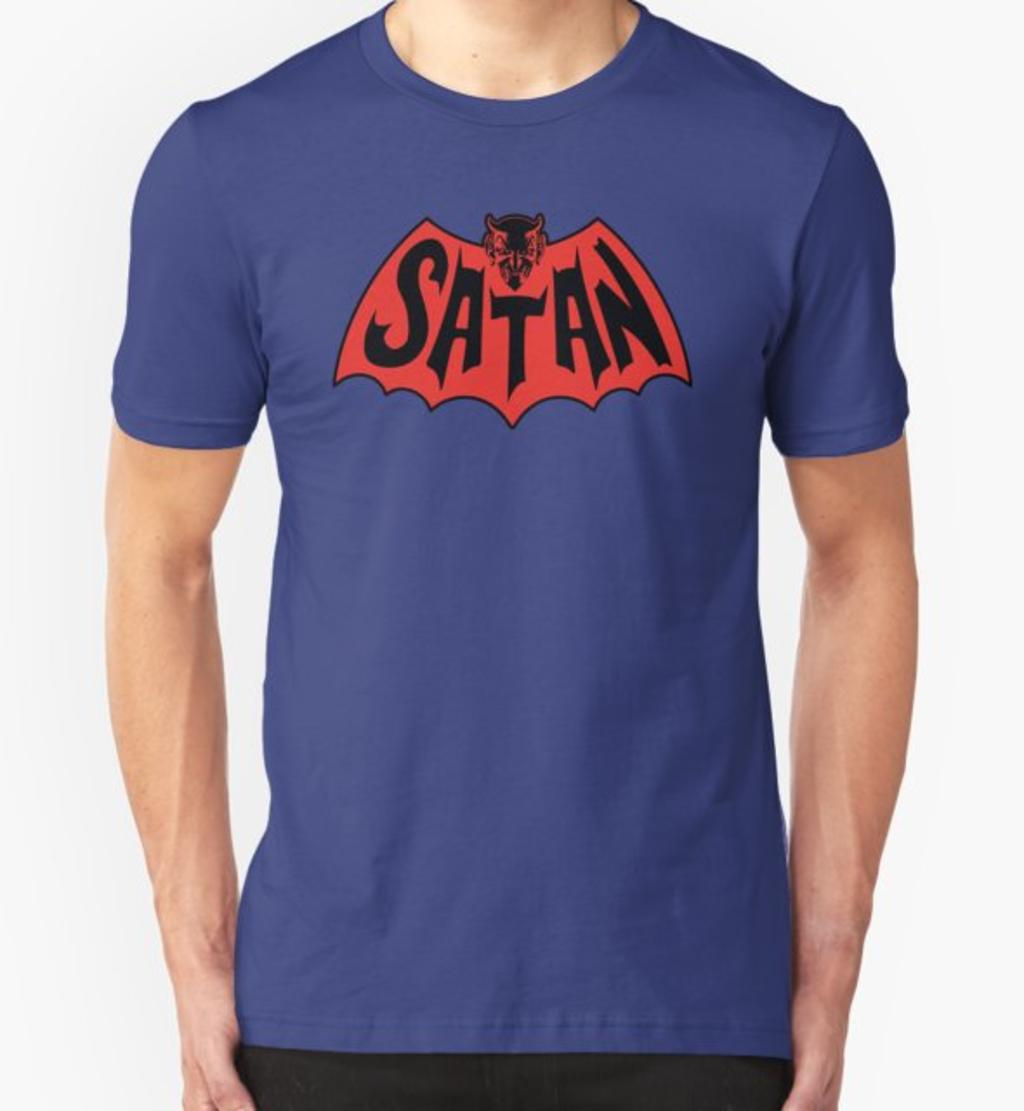 RedBubble: Satan Bat Man Vintage Style Logo