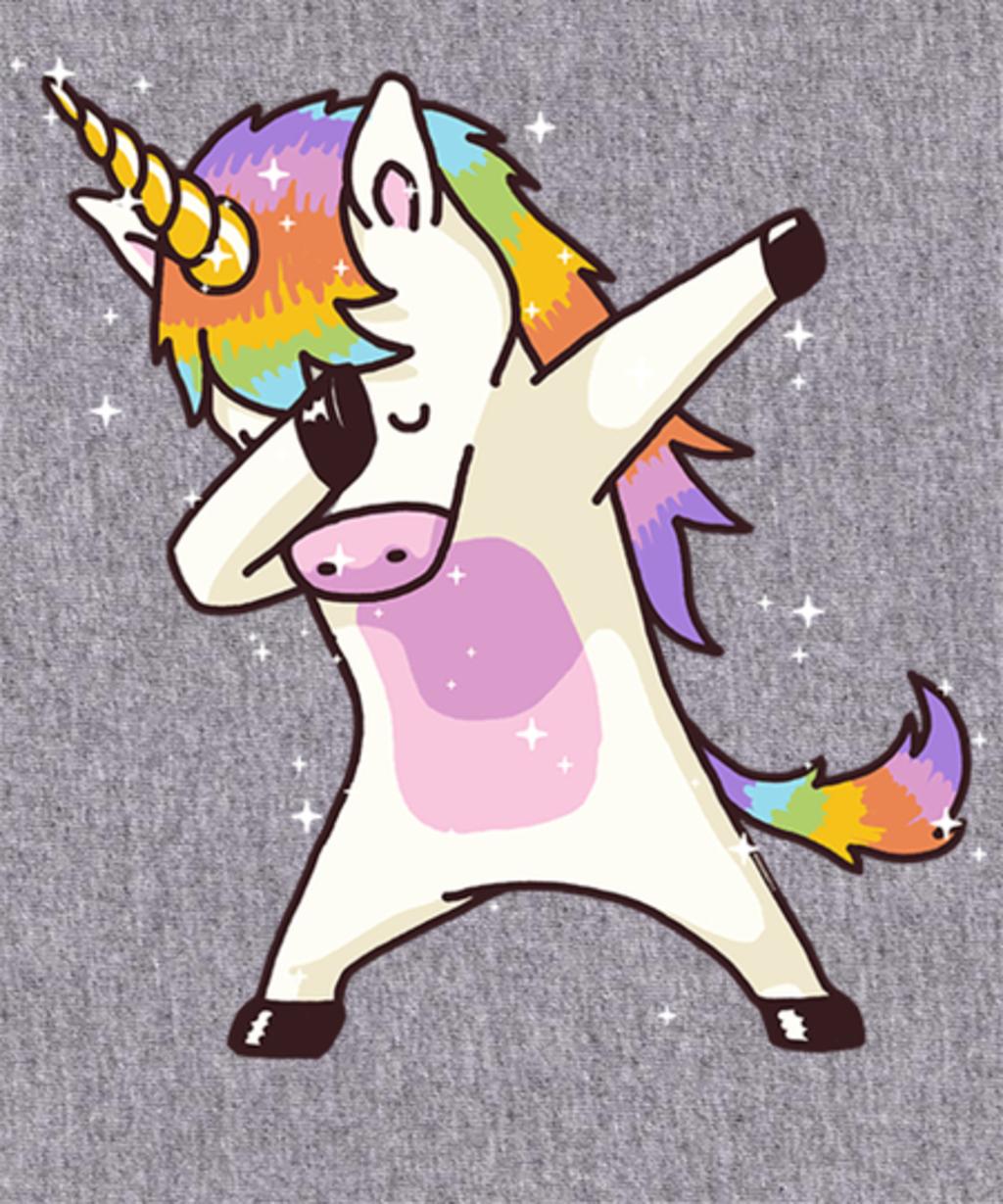 Qwertee: Dabbing Unicorn