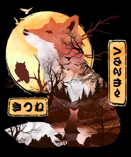Qwertee: A Red-Eyed Fox