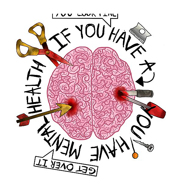RedBubble: If you have a brain, you have mental health