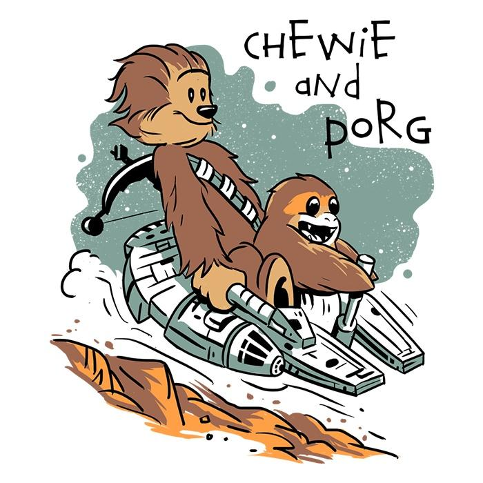 Once Upon a Tee: Chewie and Porg