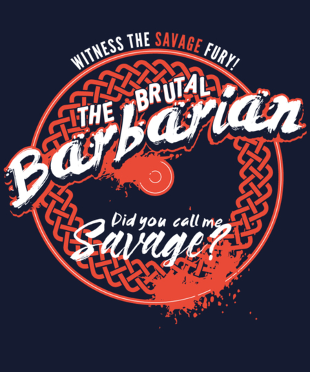 Qwertee: Barbarian
