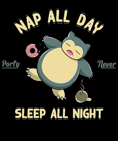 Qwertee: Nap all day