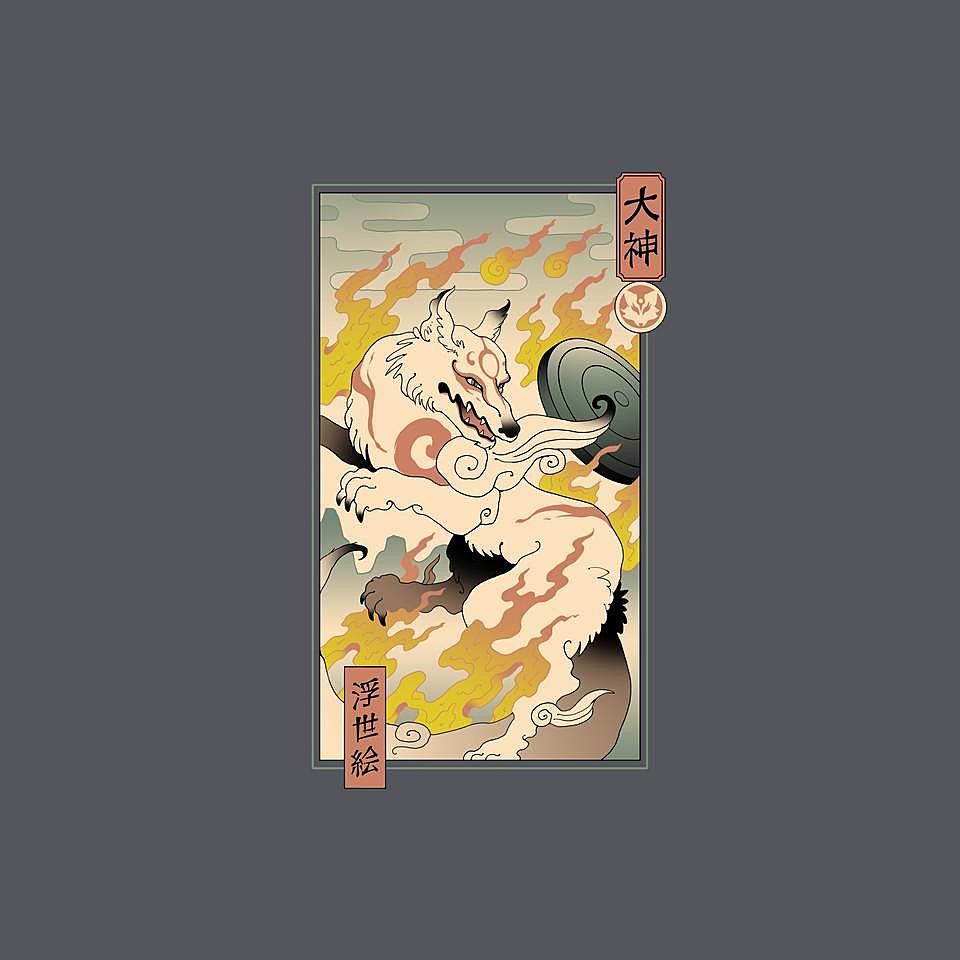 TeeFury: Spirit Ukiyo-E