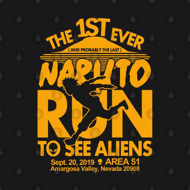 TeePublic: Naruto run for aliens