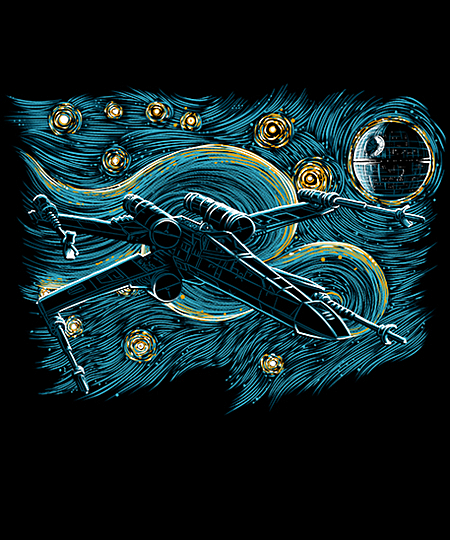 Qwertee: Starry Rebel