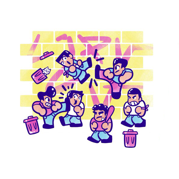The Yetee: Beat 'Em Up!