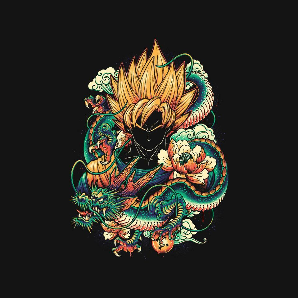 TeeFury: Colorful Dragon