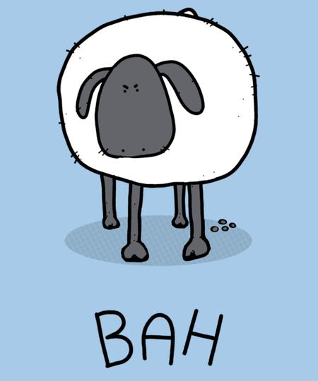 Qwertee: Grumpy Sheep