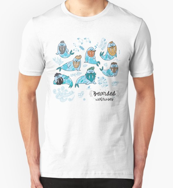 RedBubble: Bearded walruses