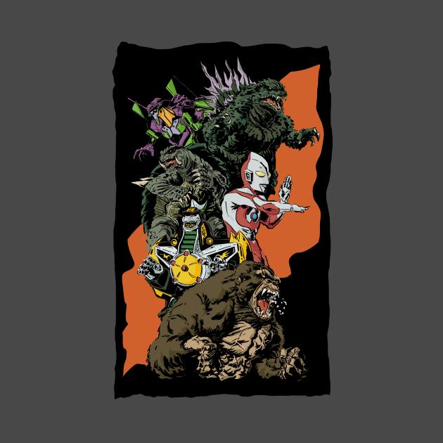 TeePublic: Kaiju Team-up