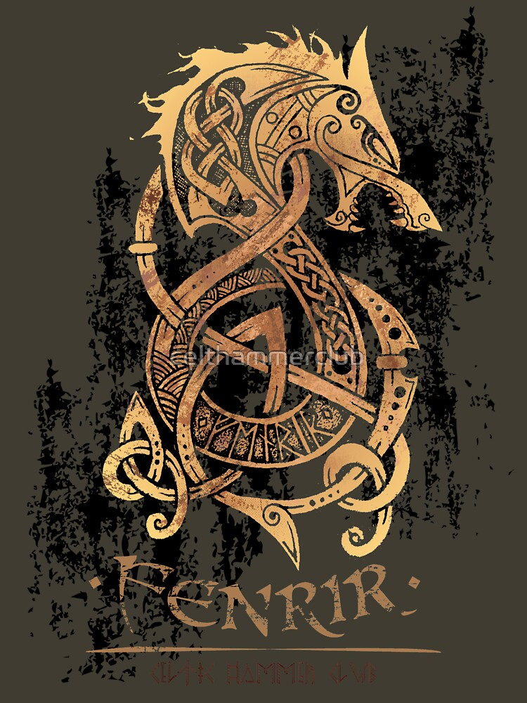 RedBubble: Fenrir: The Nordic Monster Wolf