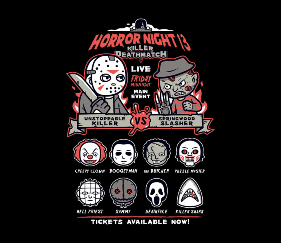 TeeFury: Horror Night