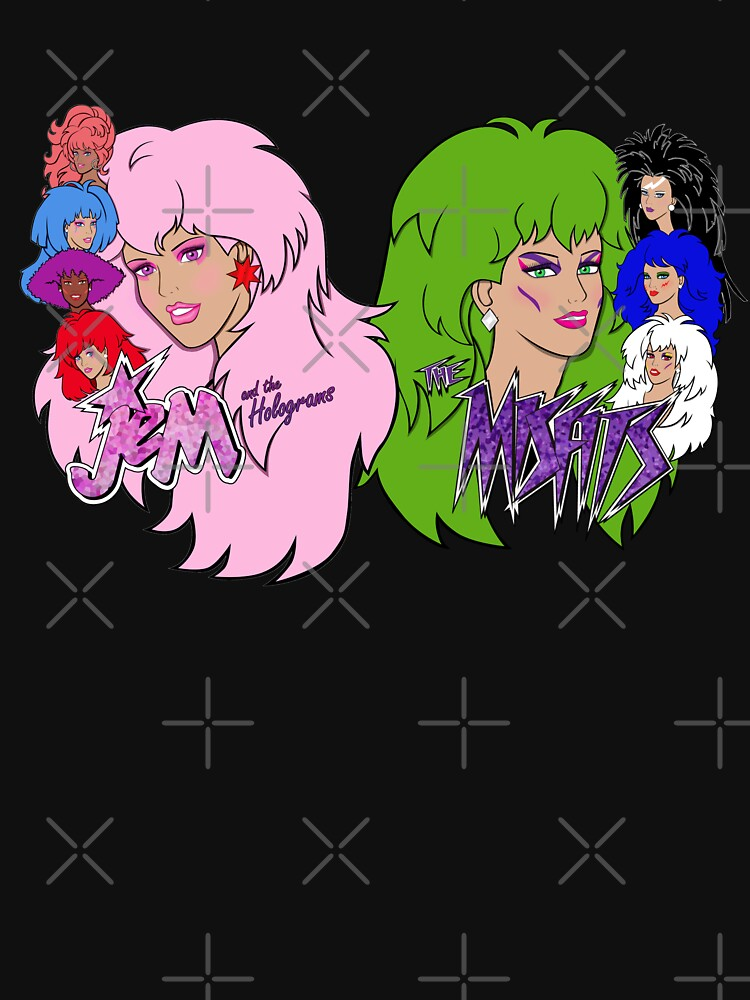 RedBubble: Jem and the Holograms Vs The Misfits