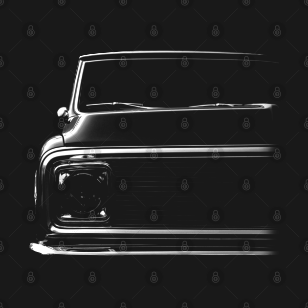TeePublic: Chevy C-10 Pickup, black shirt