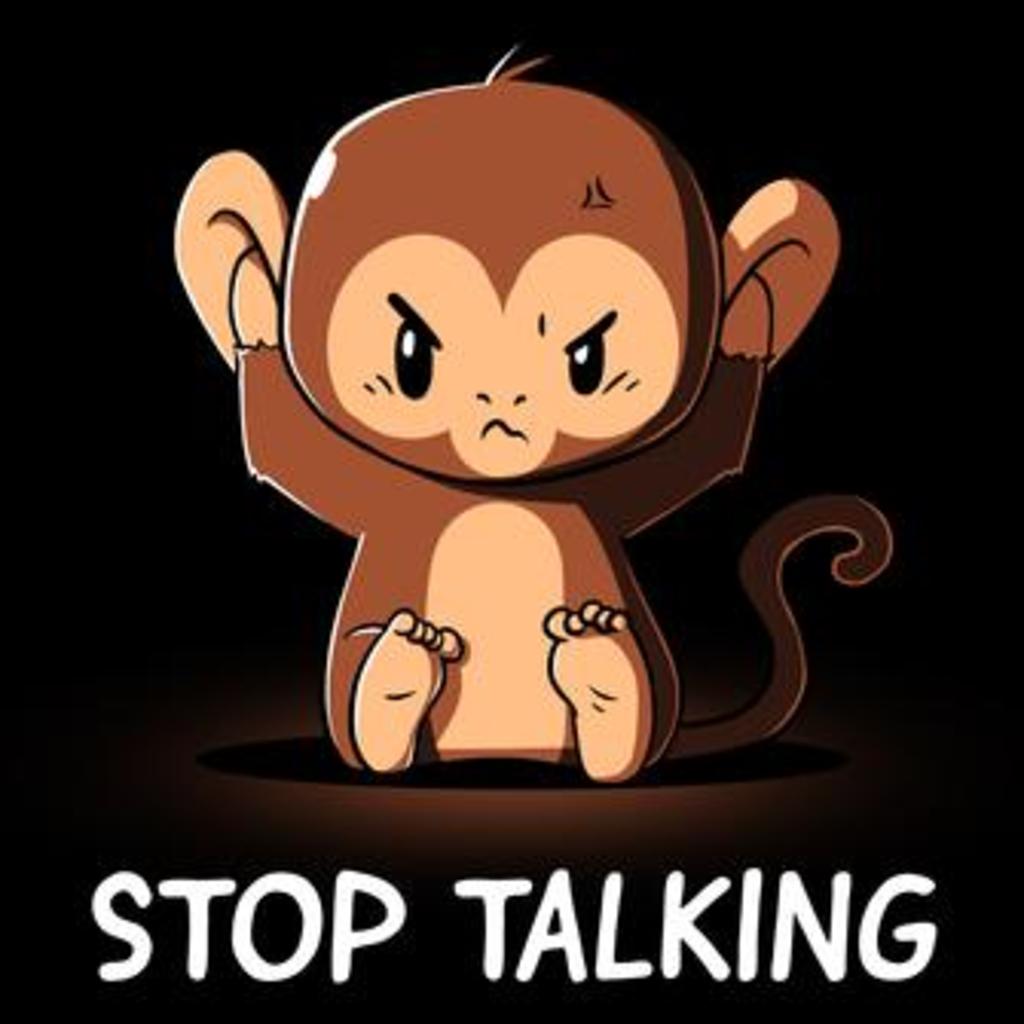 TeeTurtle: Stop Talking!