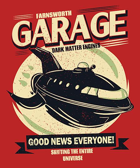 Qwertee: Farnsworth Garage