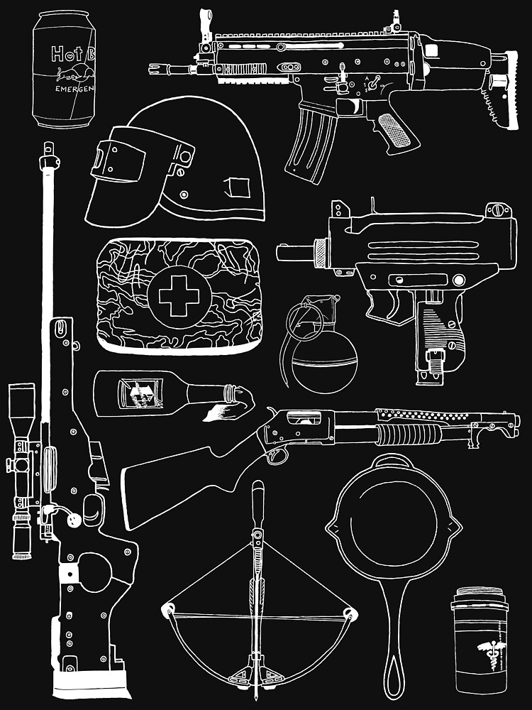 RedBubble: Playerunknown's Battlegrounds The Arsenal - PUBG White