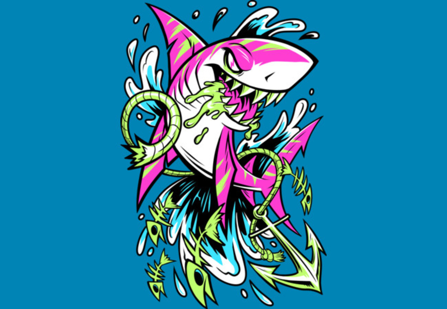 Design by Humans: Shark Splash