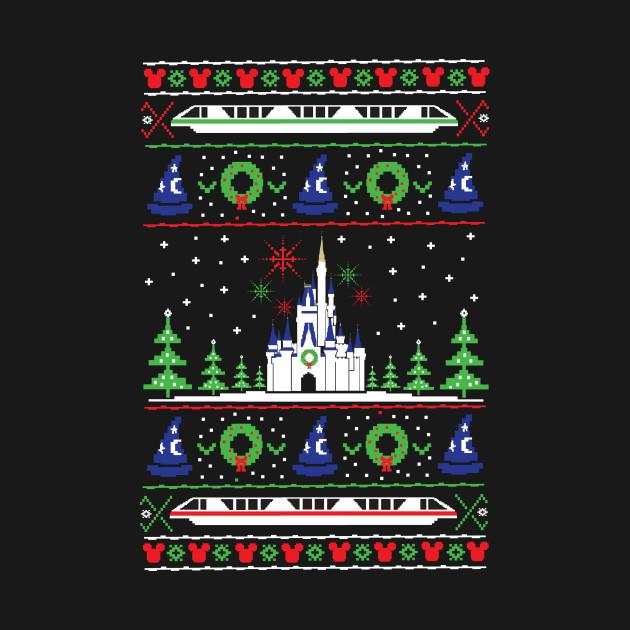 TeePublic: Magical Castle Ugly Christmas Sweater