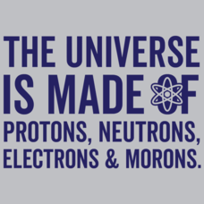 Textual Tees: The Universe Is Made Of Morons