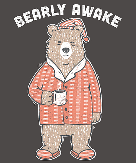 Qwertee: Bearly Awake