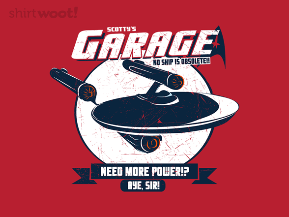 Woot!: Scotty's Garage - $8.00 + $5 standard shipping