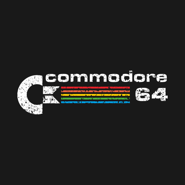 TeePublic: Commodore 64 Retro Computer distressed