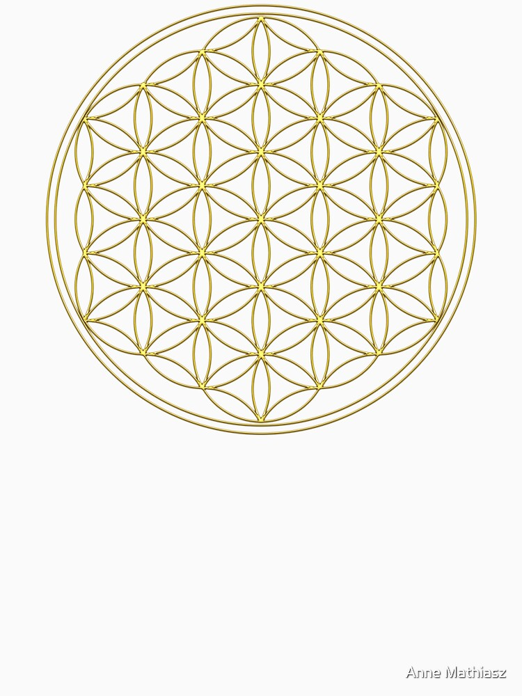 RedBubble: Flower of life, Sacred Geometry, Gold, Healing and Energizing