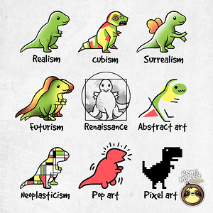 TeeTee: T-rex art
