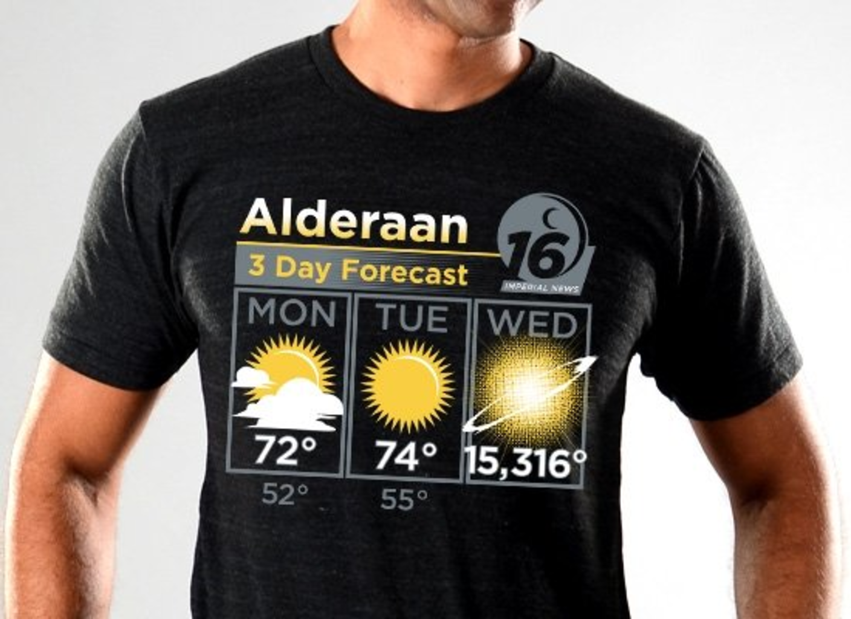 SnorgTees: Alderaan 3 Day Forecast Tri-Blend