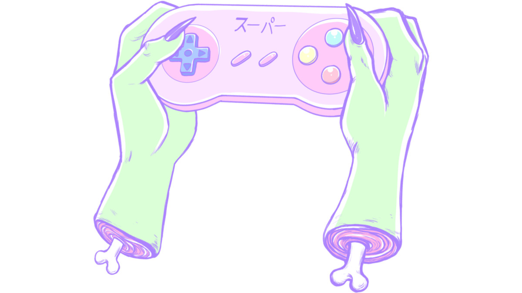 Design by Humans: Zombie Gamer Girl