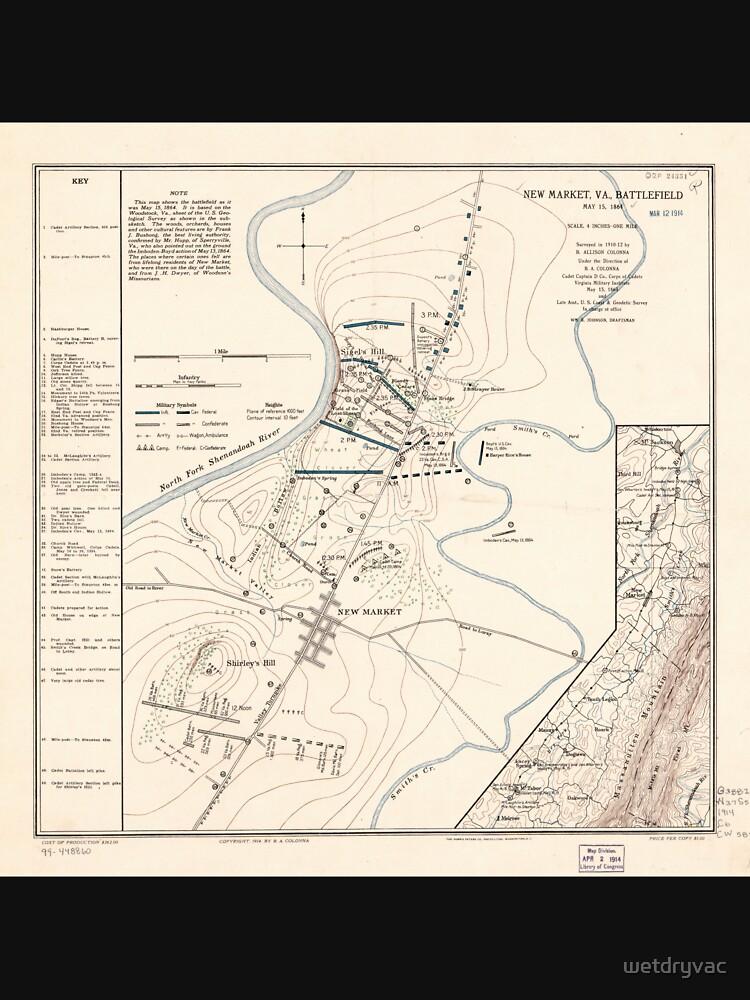 RedBubble: Civil War Maps 1190 New Market Va battlefield May 15 1864