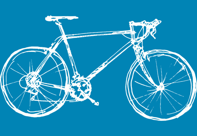 Design by Humans: Race Bicycle Doodles Drawing