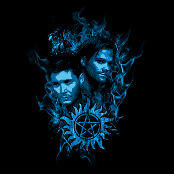 NeatoShop: Sam and Dean In Flames